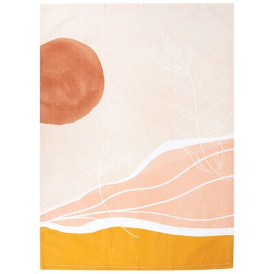 Sunbaked Abstract Tea Towel