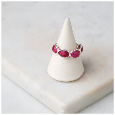 Ruby Stone & Sterling Silver Ring