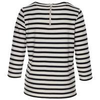 Fario Printed Stripe T-Shirt -  black