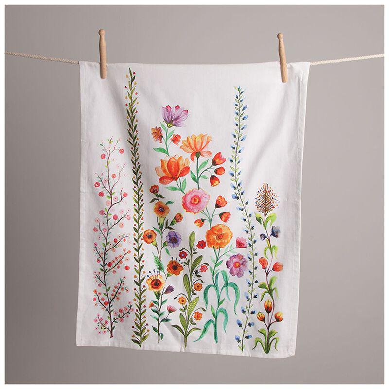 Amelia Floral Tea Towel -  pink