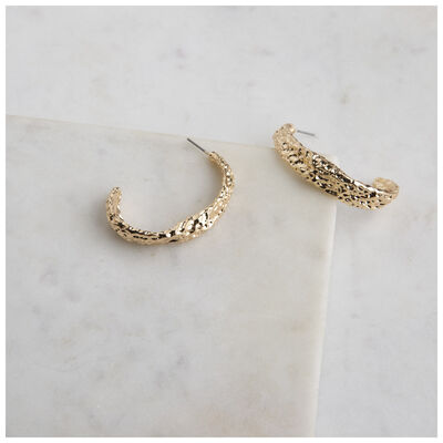 Organic Half Hoop Earrings