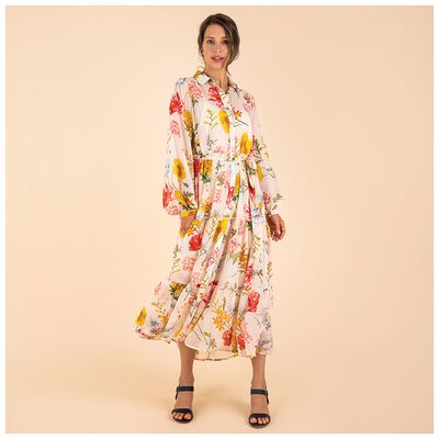 Alisia Floral Tiered Shirt Dress