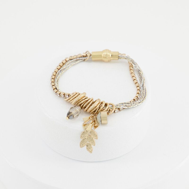 Multi-Strand Charm Bracelet -  dc0210