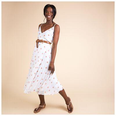 Tina Spot Wrap Dress