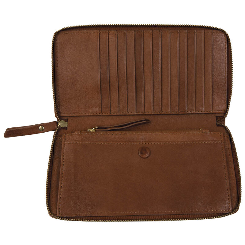 Heidi Leather Wallet -  tan