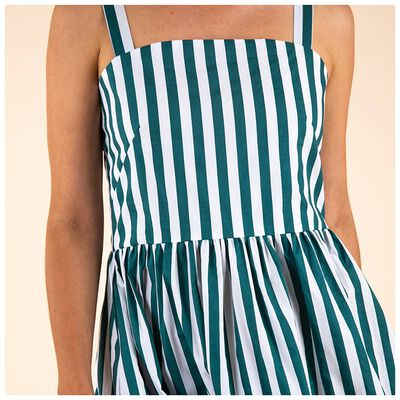 Kes Stripe Fit & Flare Dress