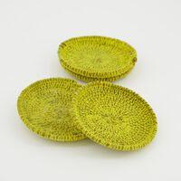 Ochre Seagrass Coaster Set -  ochre