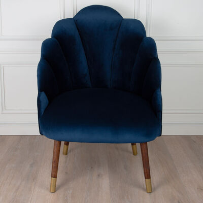 Navy Velvet Peacock Chair