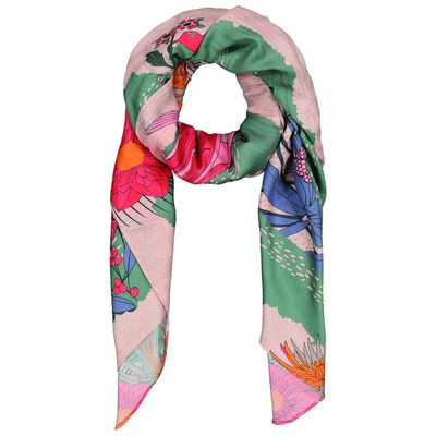 Penny Floral and Bird Print Scarf