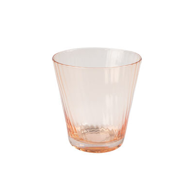 Soft Pink Ribbed Short Glass