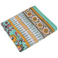 Aqua & Ochre Tablecloth -  assorted