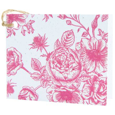 Growing Paper Red Floral Tag