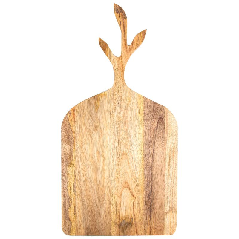 Mango Wood Serving Board  -  brown