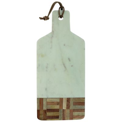 Marble and Wood Grid Detail Board