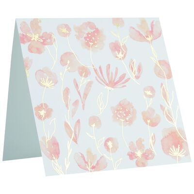 Pink and Gold Blossom Square Card