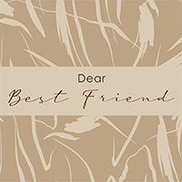 Gift Card - Dear Best Friend -